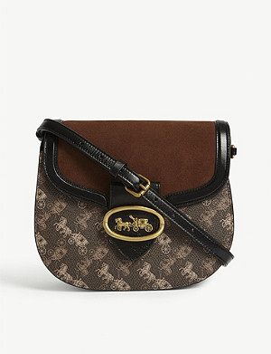 COACH Horse and Carriage print shoulder bag