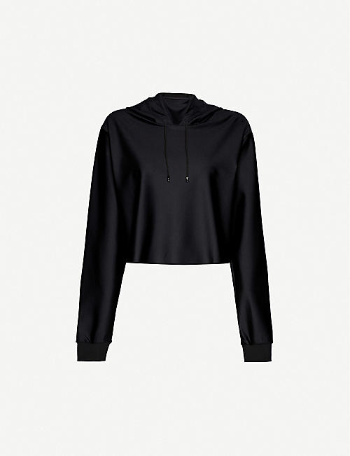 ULTRACOR: Lynx cropped stretch-jersey hoody