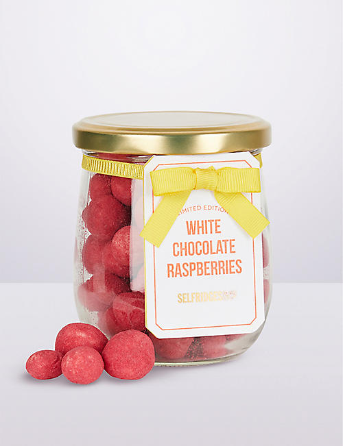 SELFRIDGES SELECTION Limited Edition White Chocolate Covered Raspberries 150g