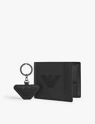 EMPORIO ARMANI: Wallet and keychain gift set