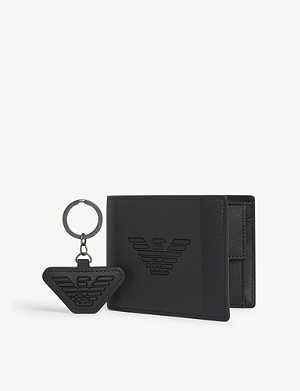 EMPORIO ARMANI Wallet and keychain gift set