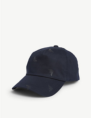 EMPORIO ARMANI: All-over eagle logo baseball cap