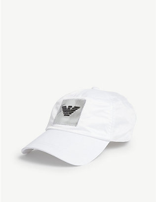 EMPORIO ARMANI: Top stitch cap