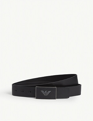 EMPORIO ARMANI Eagle square buckle belt