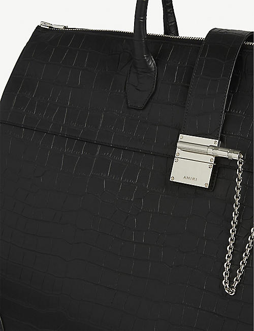 AMIRI Boston croc-embossed tote bag
