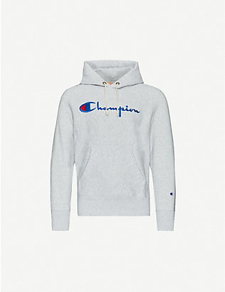 CHAMPION: Logo-print cotton-jersey hoody