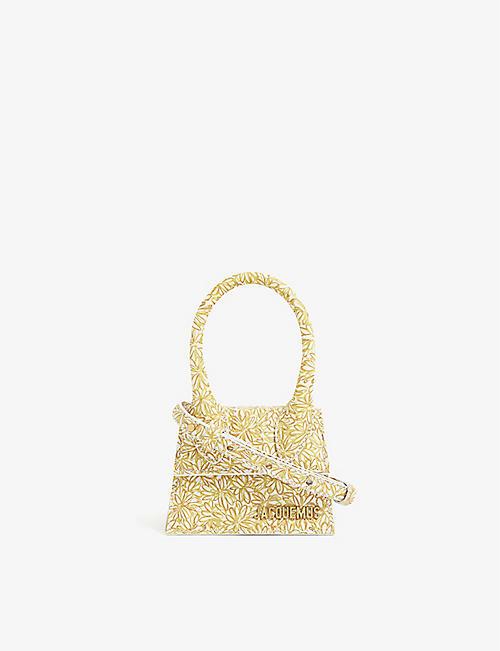 JACQUEMUS: Mini sac à main en cuir Le Chiquito
