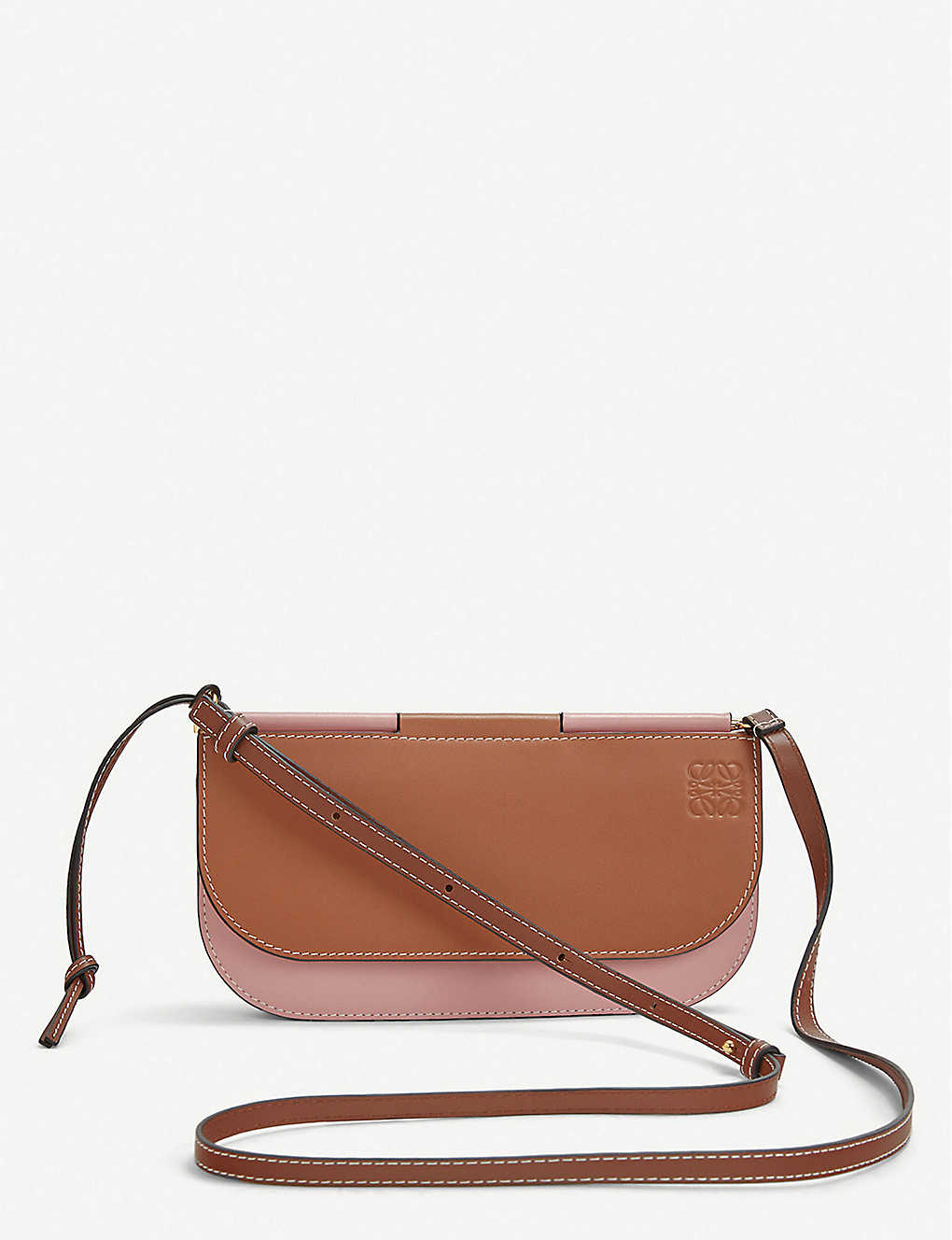 Gate Pochette leather shoulder bag - TANMEDIUM PINK