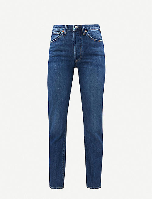 3X1: Claudia slim-fit high-rise jeans