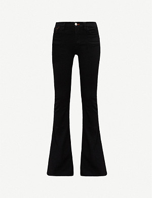 3X1 3x1 x Mimi Cuttrell Maxime flared high-rise stretch-denim jeans