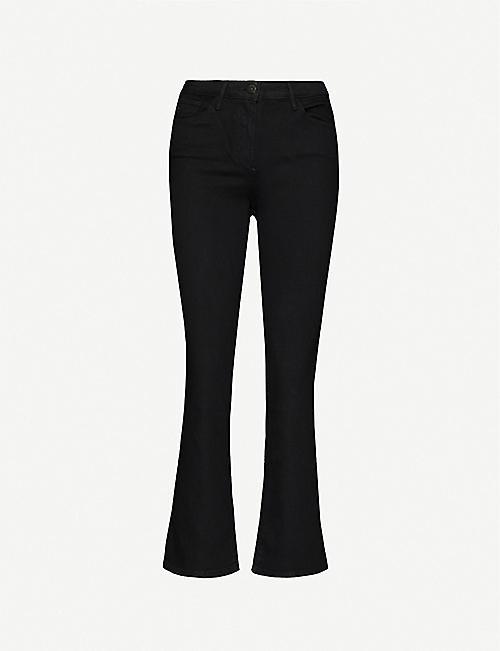 3X1: Bootcut mid-rise slim-fit stretch-denim jeans