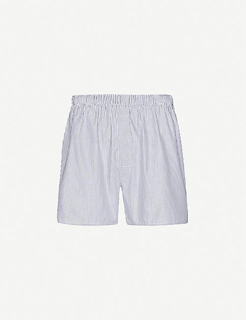SUNSPEL: Pinstripe relaxed-fit cotton boxer shorts