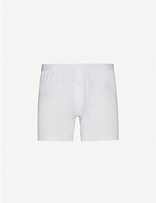 SUNSPEL: Superfine two–button boxer shorts