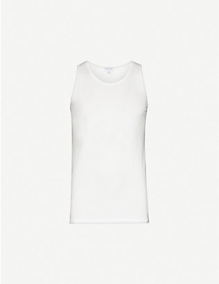 SUNSPEL: Q82 superfine cotton-jersey vest