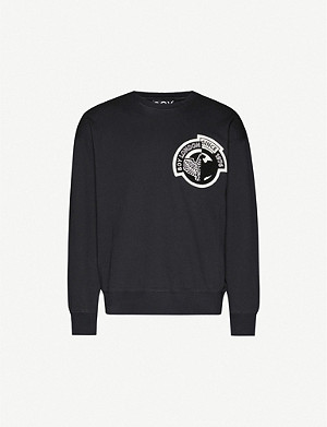 BOY LONDON Brand-print crewneck cotton-jersey sweatshirt