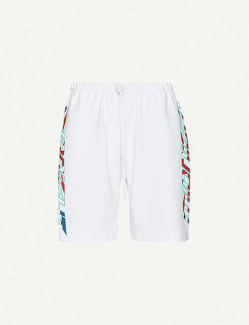 AWGE Bodega graphic-print cotton-jersey shorts