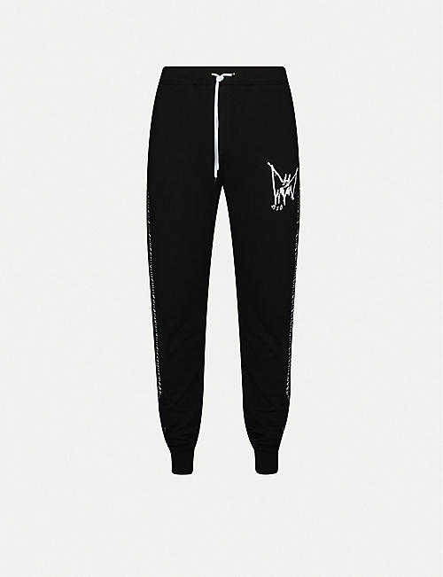 MJB - MARC JACQUES BURTON Graphic-print tapered cotton-jersey jogging bottoms