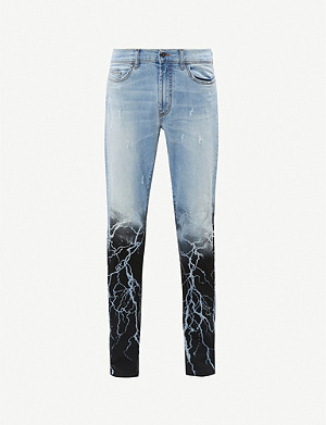 MJB - MARC JACQUES BURTON MJB X Batman Crixus Lightening slim jeans