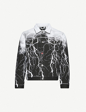 MJB - MARC JACQUES BURTON MJB X Batman Pax Lightning abstract-pattern cotton-twill jacket