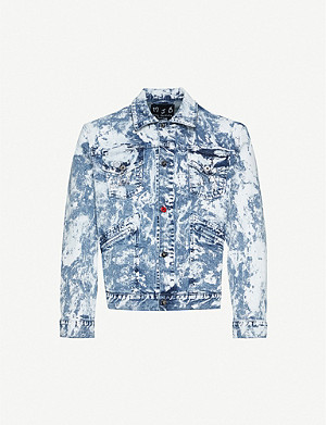 MJB - MARC JACQUES BURTON Pax acid-wash paint-splattered denim jacket