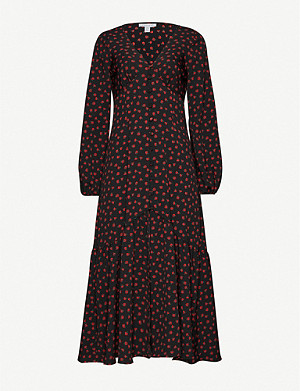 TOPSHOP V-neck crepe maxi dress