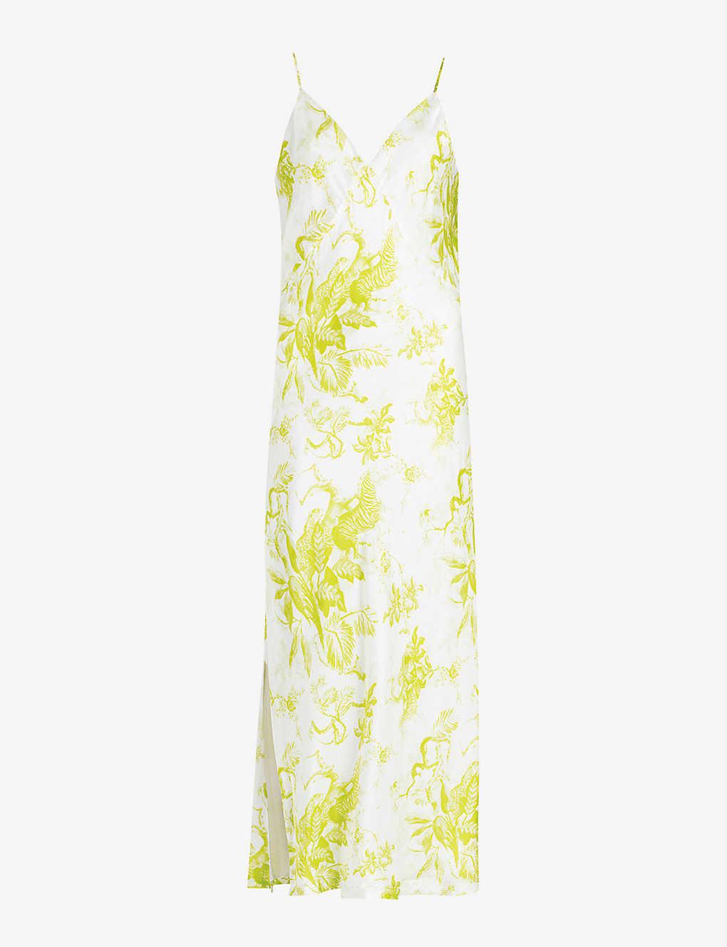 Slinky Floral Silk Dress