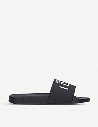 DSQUARED2: Icon pool rubber sliders