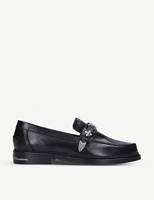 TOGA Buckle embellished suede loafers