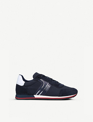 BOSS BY HUGO BOSS Milo low-top leather and suede trainers 9-12 years