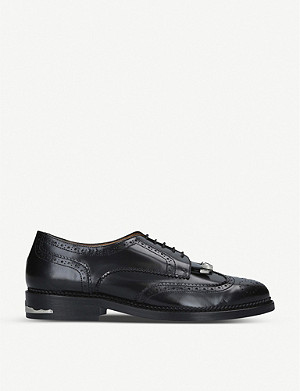 TOGA Polido fringed leather derby shoes
