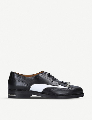 TOGA Fringed leather brogues