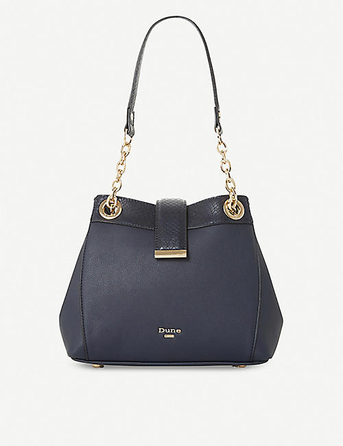 DUNE Dilear faux-leather chain shoulder bag