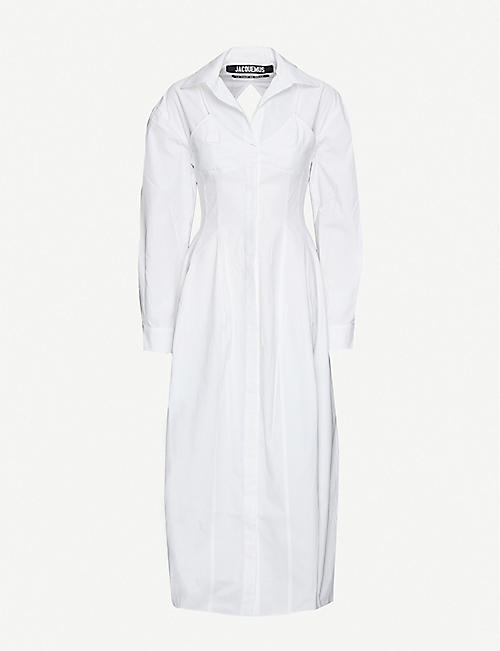 JACQUEMUS: La Robe Valensole cotton midi dress