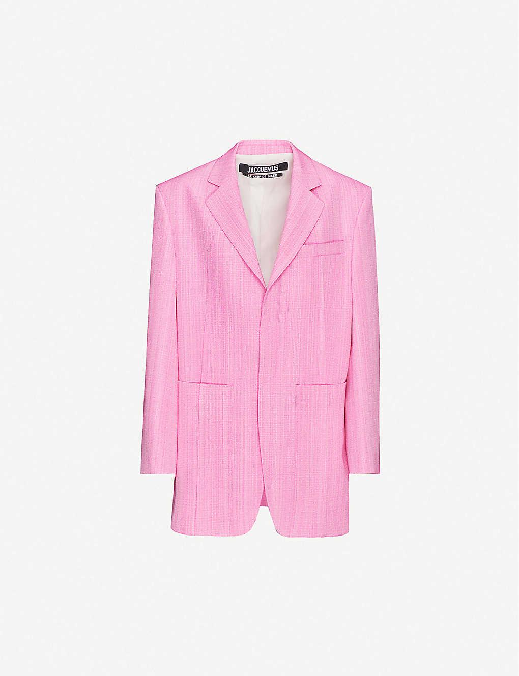 Pink Neon Oversized Blazer
