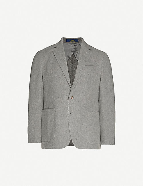 POLO RALPH LAUREN: Loose-fit wool and cotton-blend blazer