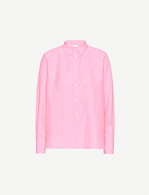 LES COYOTES DE PARIS Wanda relaxed-fit silk shirt