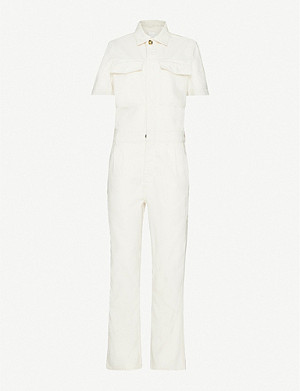 LES COYOTES DE PARIS Alex buttoned stretch-cotton jumpsuit