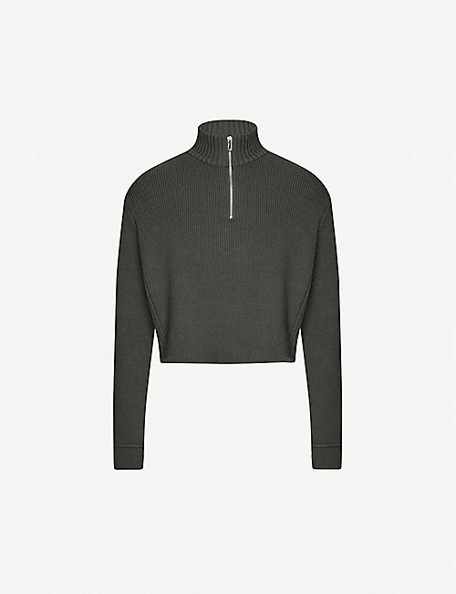PACSUN X Kendall & Kylie half-zip cotton-blend jumper