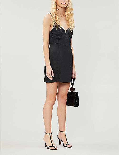 PACSUN PacSun x Kendall & Kylie V-neck satin-crepe mini dress