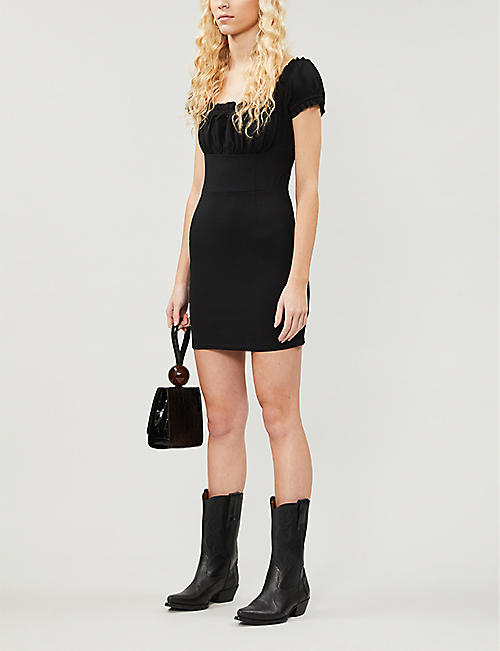 PACSUN PacSun x Kendall & Kylie puff-sleeved stretch-crepe mini dress