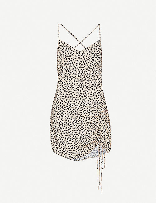 PACSUN X Lottie Moss leopard-print crepe mini dress