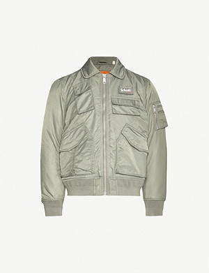 SCHOTT Pocket-patch shell jacket