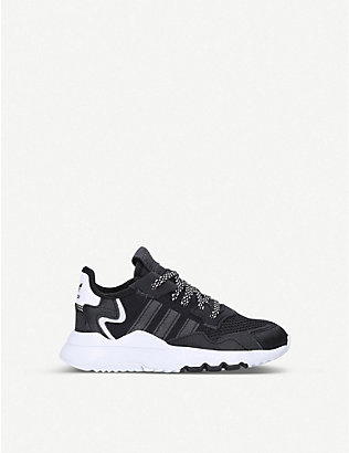 ADIDAS: Nite Jogger leather and mesh trainers 6-8 years