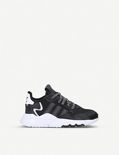 ADIDAS Nite Jogger leather and mesh trainers 6-8 years