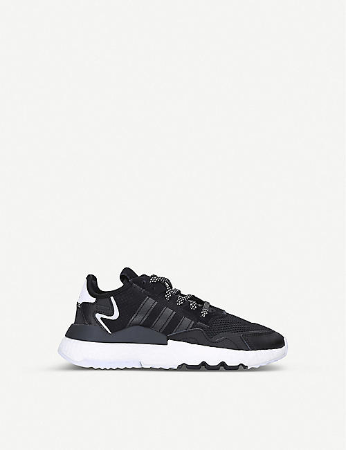 ADIDAS Nite Jogger leather and mesh trainers 9-10 years
