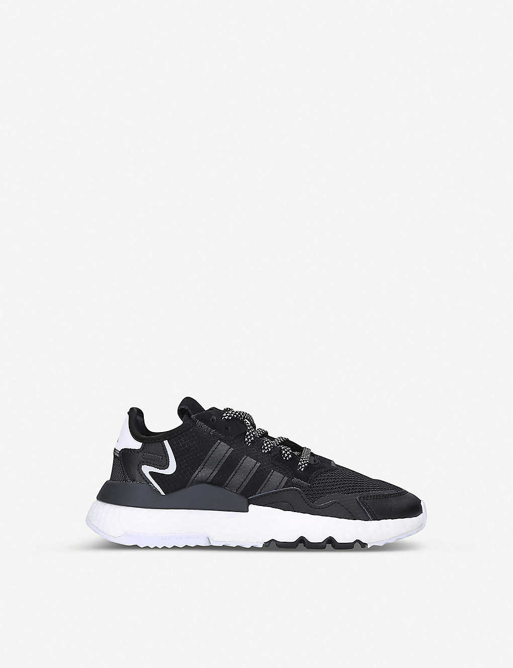 ADIDAS: Nite Jogger leather and mesh trainers 9-10 years