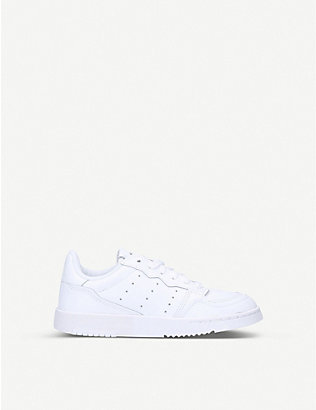 ADIDAS: Supercourt leather trainers 6-9 years