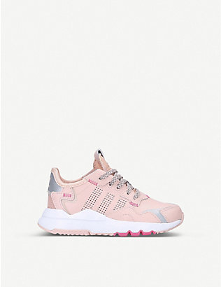 ADIDAS: Nite Jogger leather trainers 6-9 years
