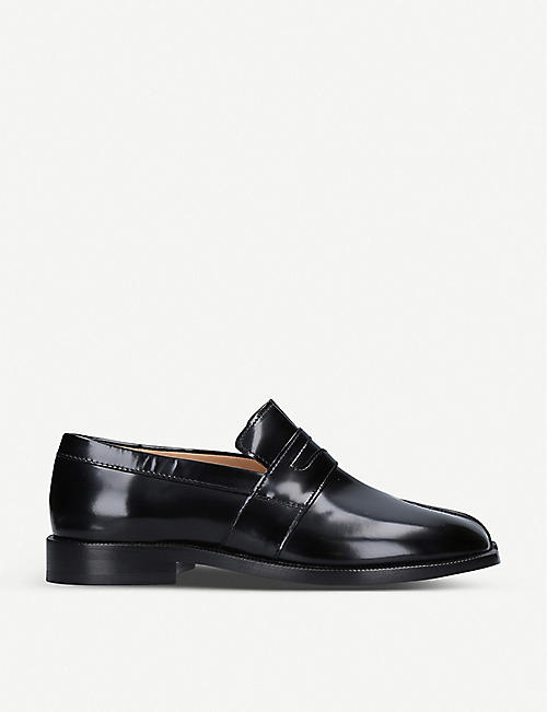 MAISON MARGIELA: Tabi cleft-toe leather Penny loafers