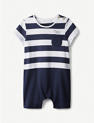 THE LITTLE WHITE COMPANY: Little Tiger cotton romper 0-24 months
